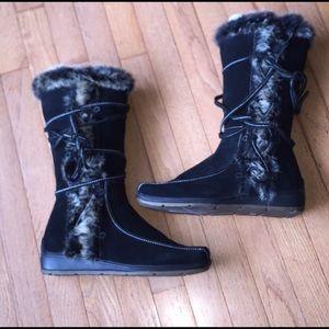 Colin Stuart Leather & Faux Fur Boots 11 NEW!